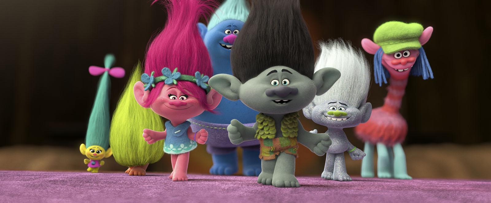 """Protagonistas de la película de los """"Trolls"""""""