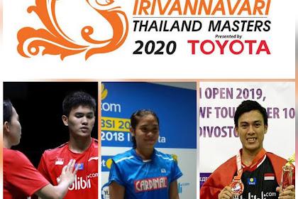 Dua wakil gugur, satu melaju hasil Thailand Masters 2020