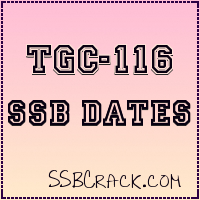 TGC-116 SSB Interview Dates