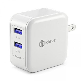 iClever Dual USB Travel Wall Charger