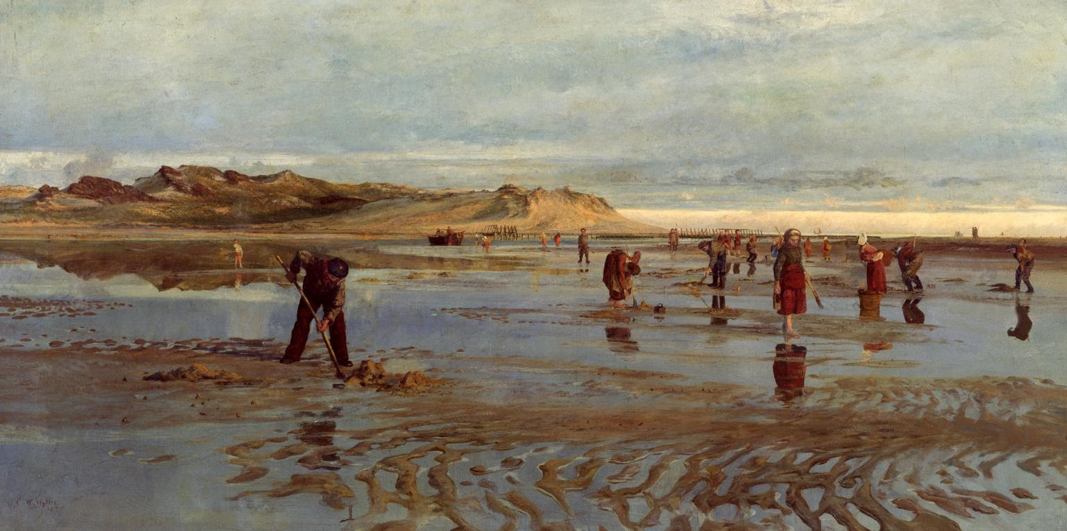 Charles William Wyllie Digging for Bait