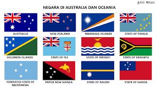 Negara-negara Di Benua Australia Dan Oceania Dan Ibu Kotanya