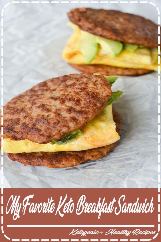 This keto breakfast sandwich is low in carbs My Favorite Keto Breakfast Sandwich