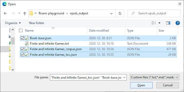 Import corpus.json, toc.json and Book-base.json