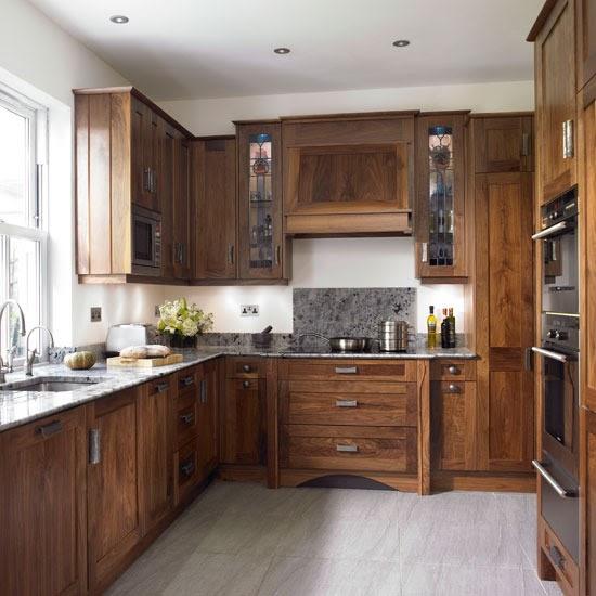Walnut Kitchen Cabinet: New Home Interior Design: Take A Look Around This Chic
