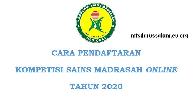 Cara Pendaftaran KSM Online Tahun 2020