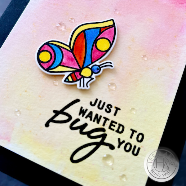 Cardbomb, Maria Willis, Hero Arts, stamping, cards, cardmaking, watercolor, color, ink, paper, papercraft, butterfly