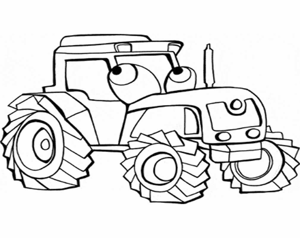 gambar mewarnai gambar traktor mobil beko di rebanas