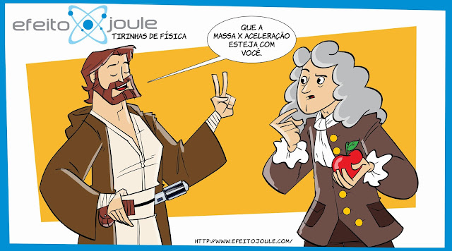 tirinha sobre Isaac Newton