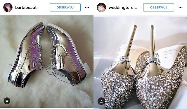 srebrne buty do ślubu