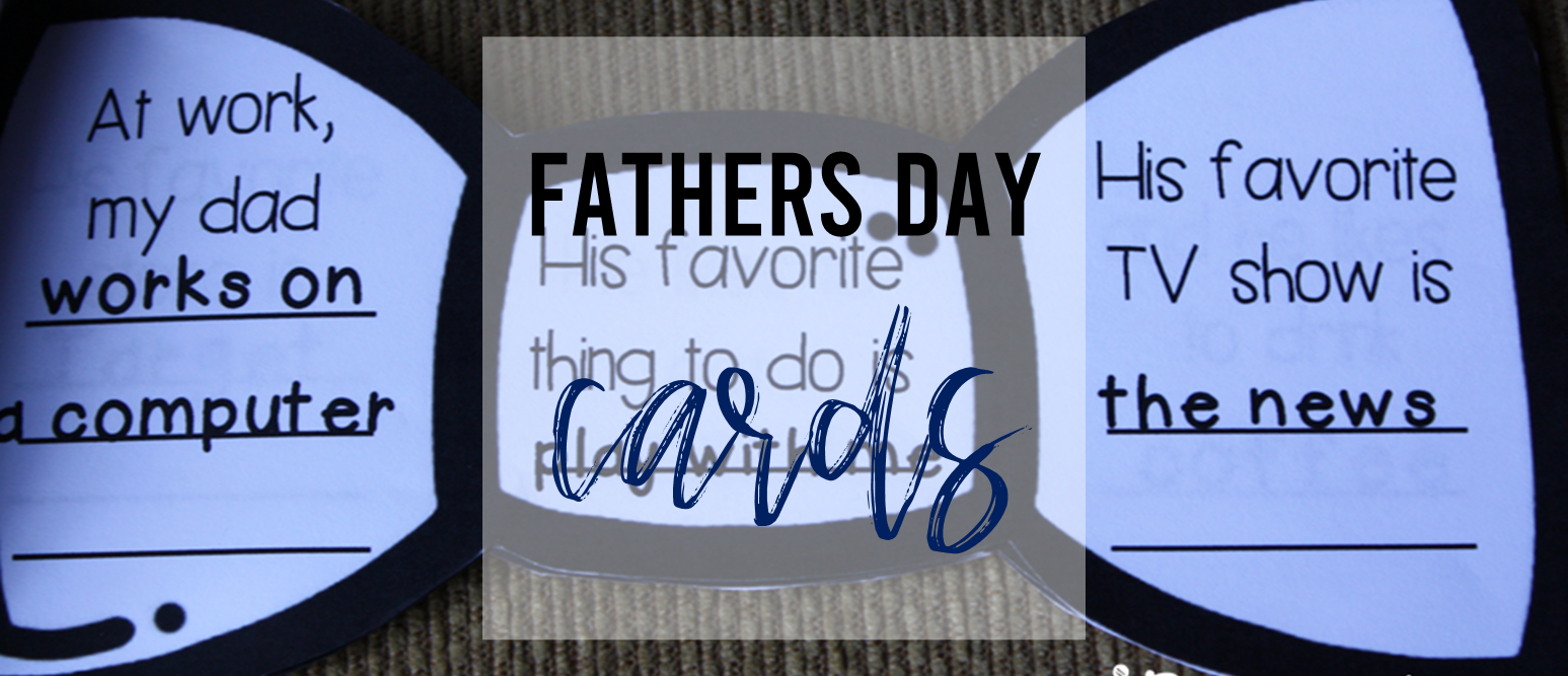 Father's Day Card 'All About My Dad'. Includes neck tie and bow tie options where students fill in information about their dads. A sweet keepsake! #fathersday #kindergarten
