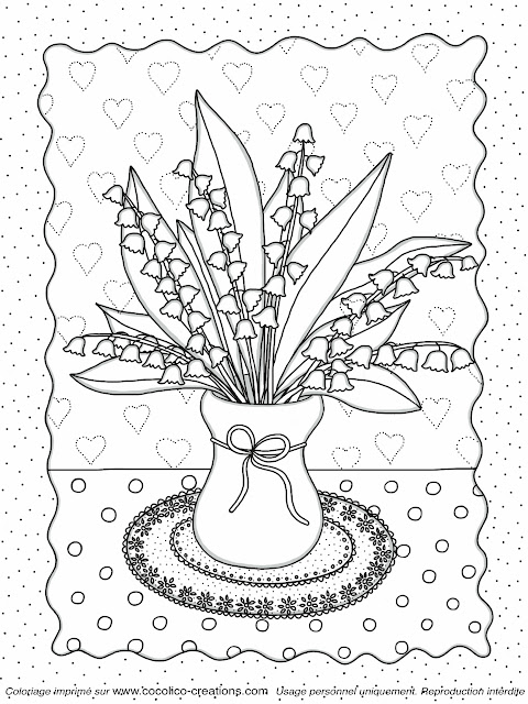 Cocolico Creations Mercredi Coloriage Un Bouquet De Muguet