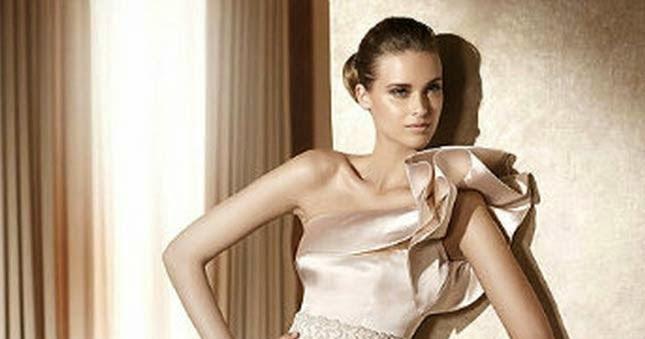 Beige Bridesmaid Dresses Style R101 Short: Informal Short Wedding Dresses Beige Color Design