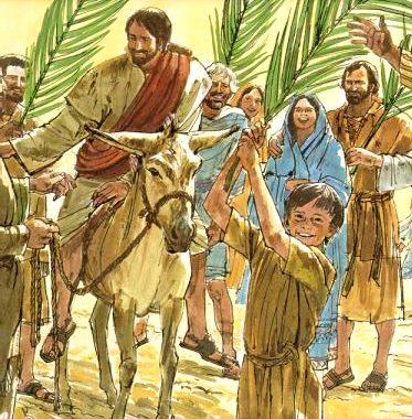 Imagen por Domingo de Ramos con Jesús