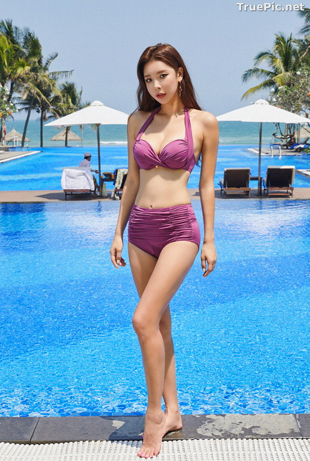 Image Park Da Hyun - Korean Fashion Model - RoseMellow Purple Bikini - TruePic.net - Picture-6