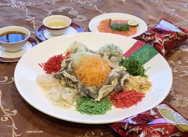 Prosperity Yee Sang with Crispy Fish Skin and Salmon Fish