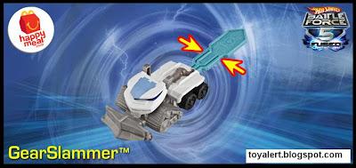 McDonalds Hot Wheels Battle Force 5 Fused 2011 happy meal toy Gear Slammer