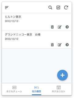 AppSheetで旅の思い出、宿泊履歴リストのイメージ