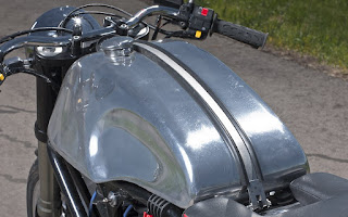 buell x1 cafe racer old style with aluminium gas tank