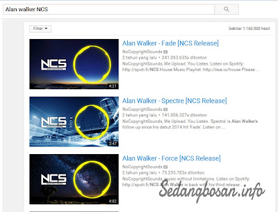 Cari Video Apapun di YouTube