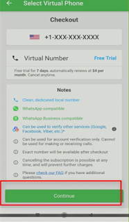 wabi get virtual number