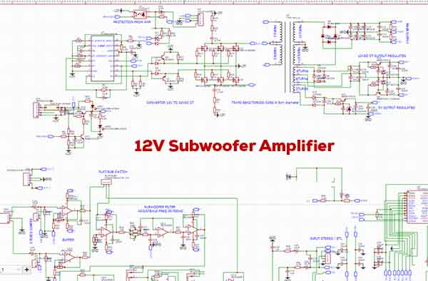 12v Powerful Subwoofer Amplifier Class D Converter Preamp Electronic Circuit