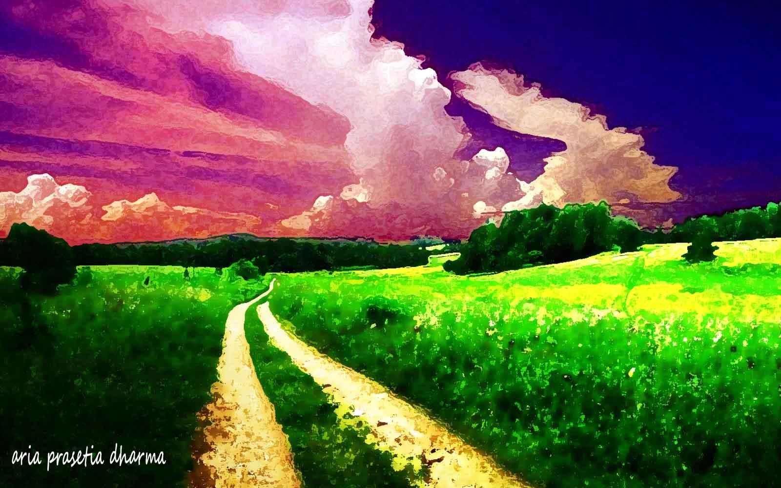 Membuat Lukisan Pemandangan Alam Dengan Photoshop CS3