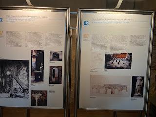 Varignano Roman Villa - Informational sign - cistern in context
