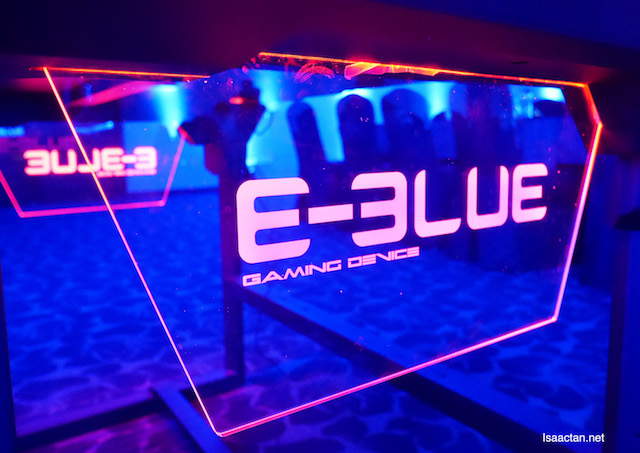 Part of the deco of the E-BLUE Gaming table