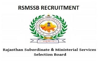 RSMSSB Pharmacist Recruitment 2019