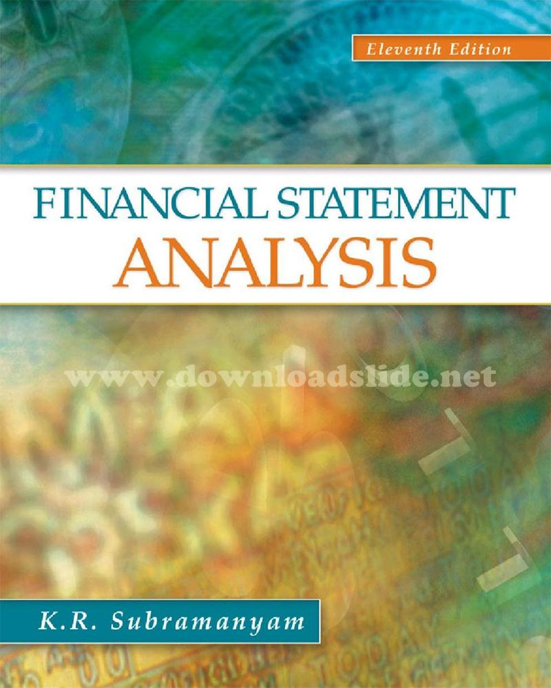 Ebook Financial Statement Analysis 11th Edition by Subramanyam