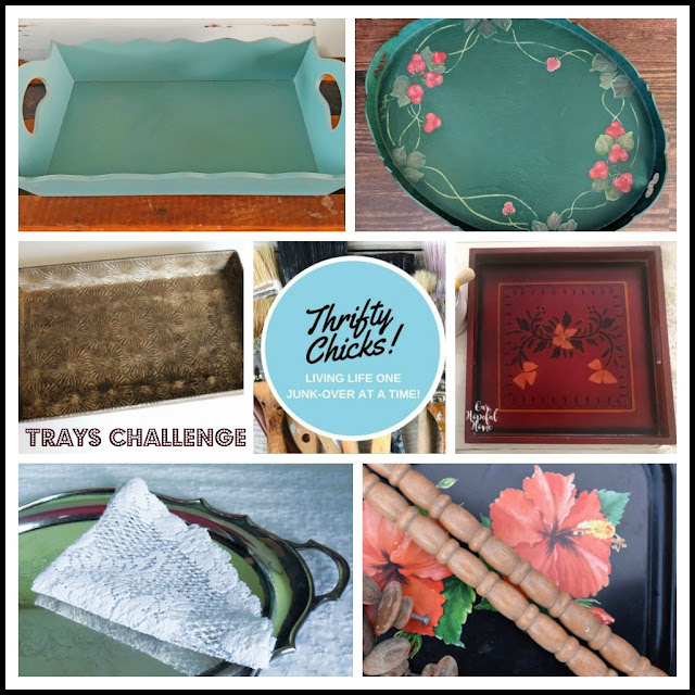 Thrifty Chicks Tray Makeover Challenge