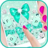Green Diamond Bow Keyboard Theme Apk Download for Android