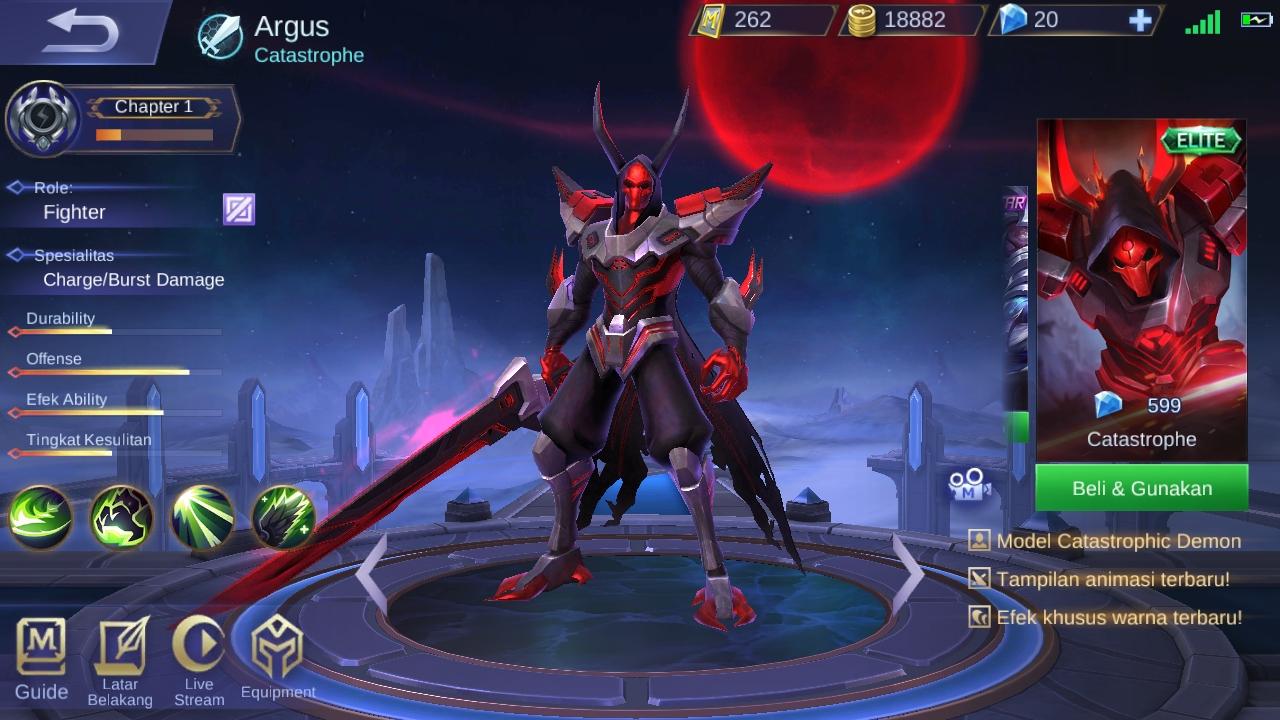 Skin Mobile Legend Argus