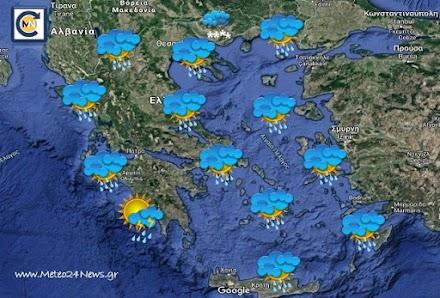 Τοπικές βροχές στην ηπειρωτική και νότια Ελλάδα - Μεταφορά αφρικανικής σκόνης στα νότια