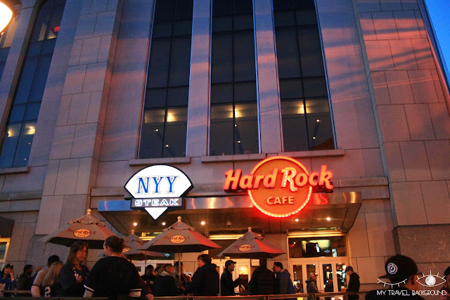 My Travel Background : Une semaine à New York - Hard Rock Cafe Yankee Stadium