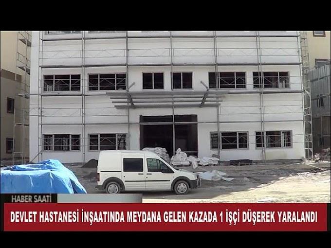 Yeni Hastane İnşasında İş Kazası Meydana Geldi.