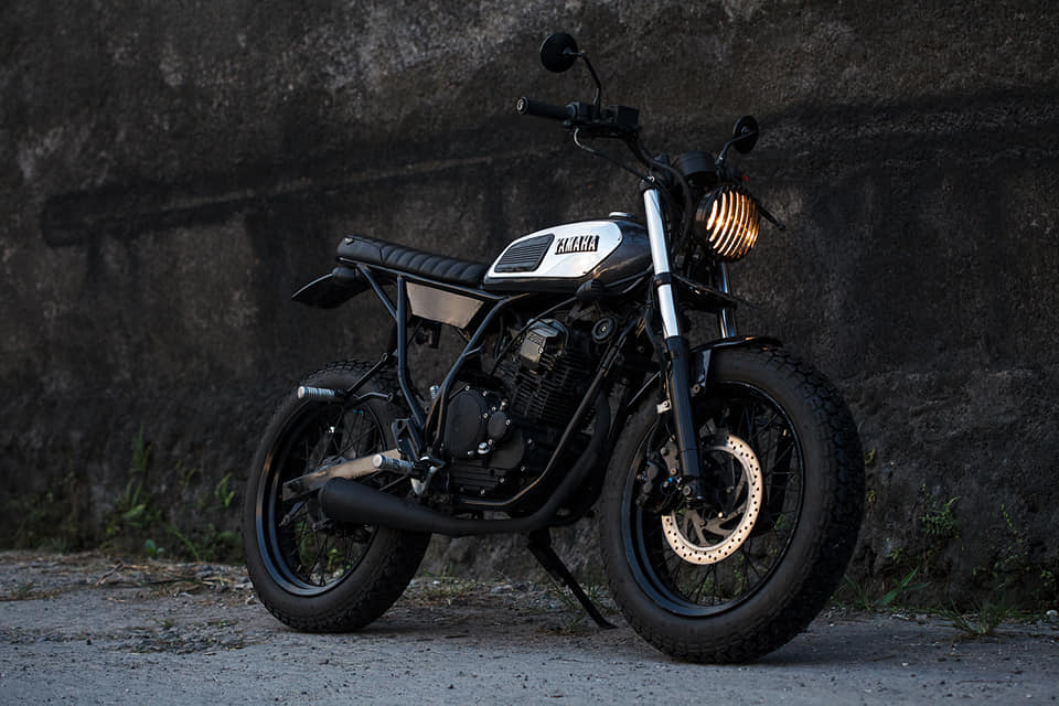 jual motor custom bali - yamaha scorpio tracker