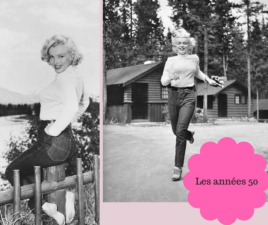 Marilyn Monroe portant un jean levis