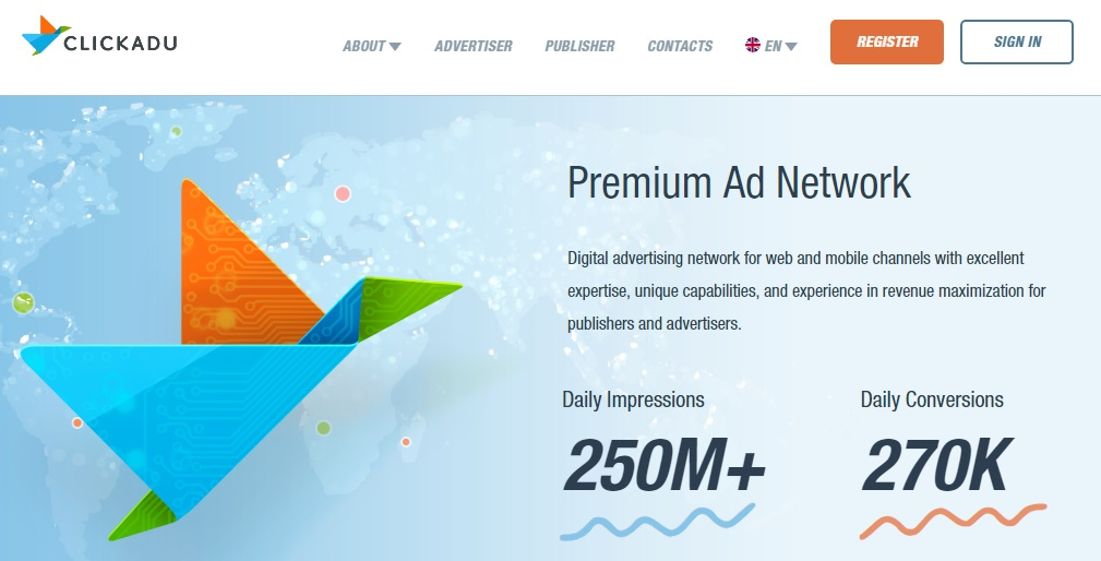 ClickAdu – eCPM based Premium Ad Network