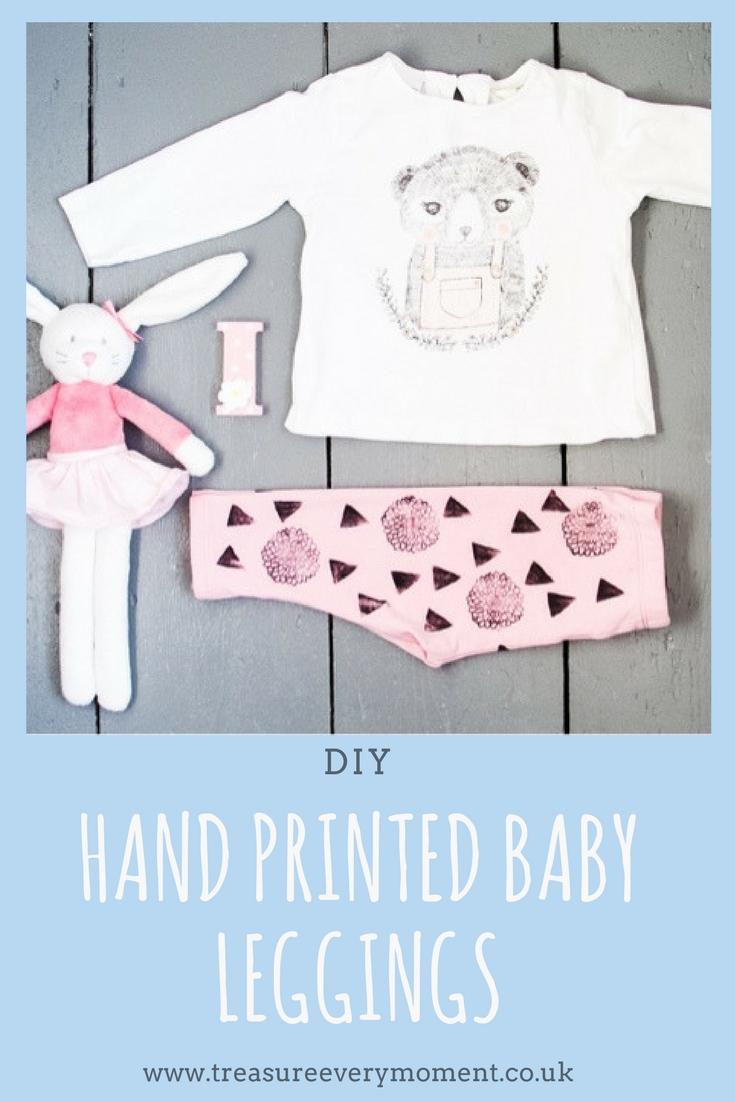 DIY: Hand printed Baby Leggings