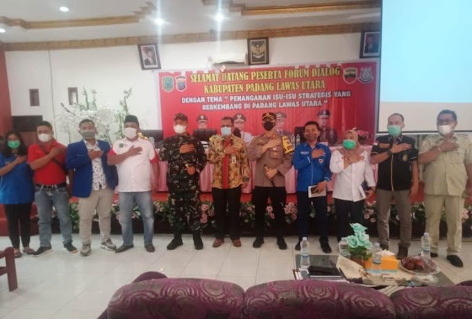 KNPI Padang Lawas Utara; Apresiasi Giat Forum Dialog Kesbangpol