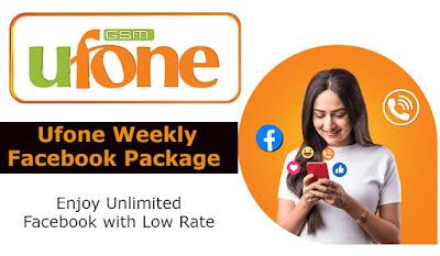 Ufone Weekly Facebook Package Price Details