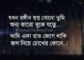 Sad sms pic bangla