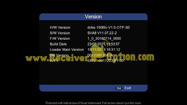 SUPER GOLD SG-6666 V1 1506TV 512M 8M NEW SOFTWARE 23 AUGUST 2021