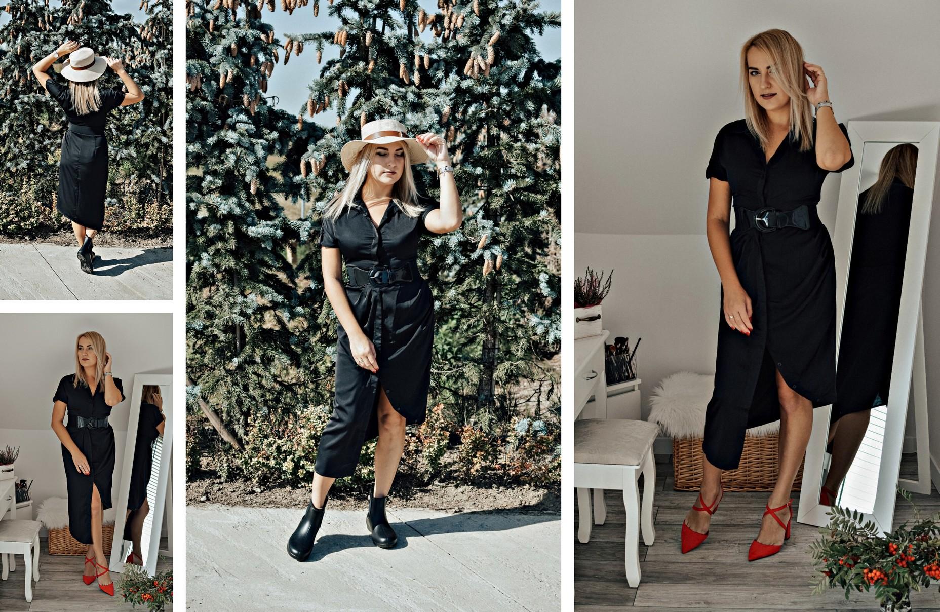 Czarna asymetryczna sukienka
