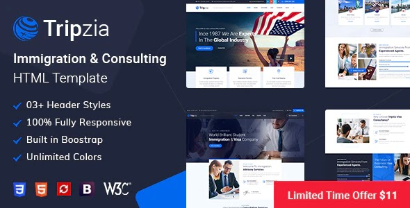Immigration and Visa Consulting Website Template