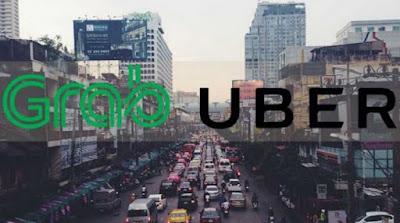 Grab Ambil Alih Operasional Uber di Asia Tenggara