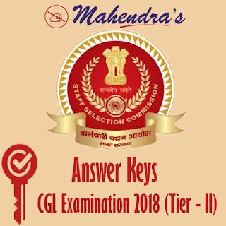 SSC   CGL Exam 2018 (Tier - II) - Answer Keys
