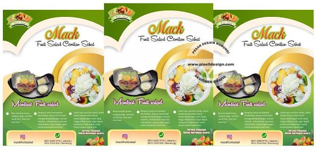 Iklan Brosur Promosi Makanan Salad Buah